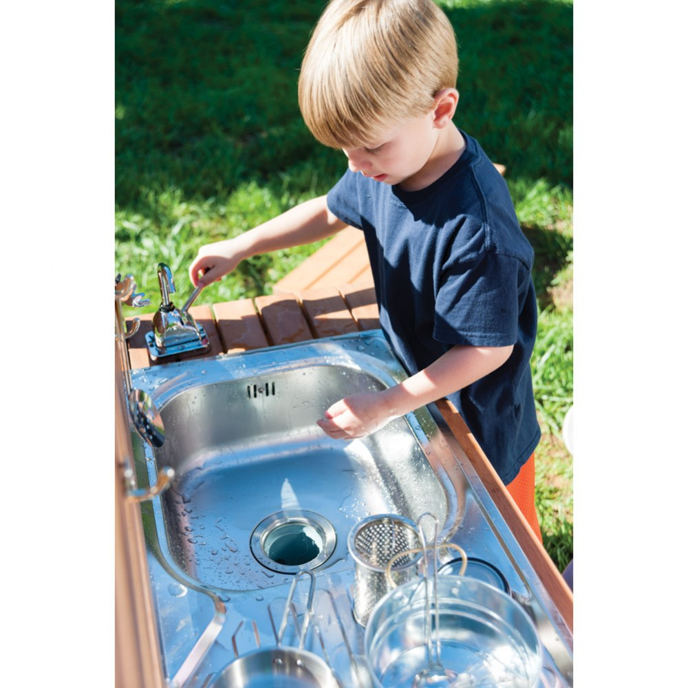 Alternate Image #6 of Outdoor Mud Kitchen with Pump