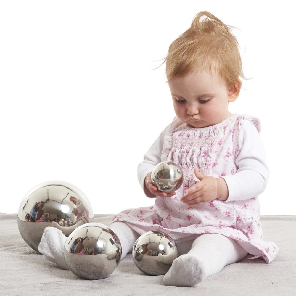 Alternate Image #2 of Sensory Reflective Balls - Set of 4