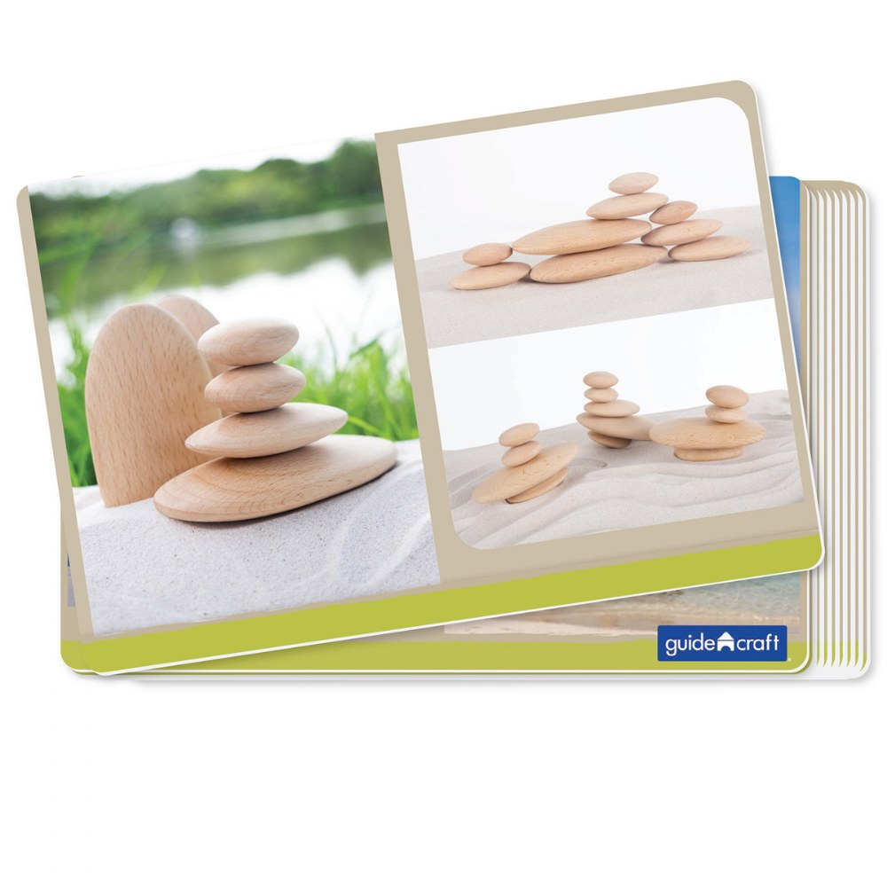 Alternate Image #6 of Wood Stackers: River Stones - Set of 20