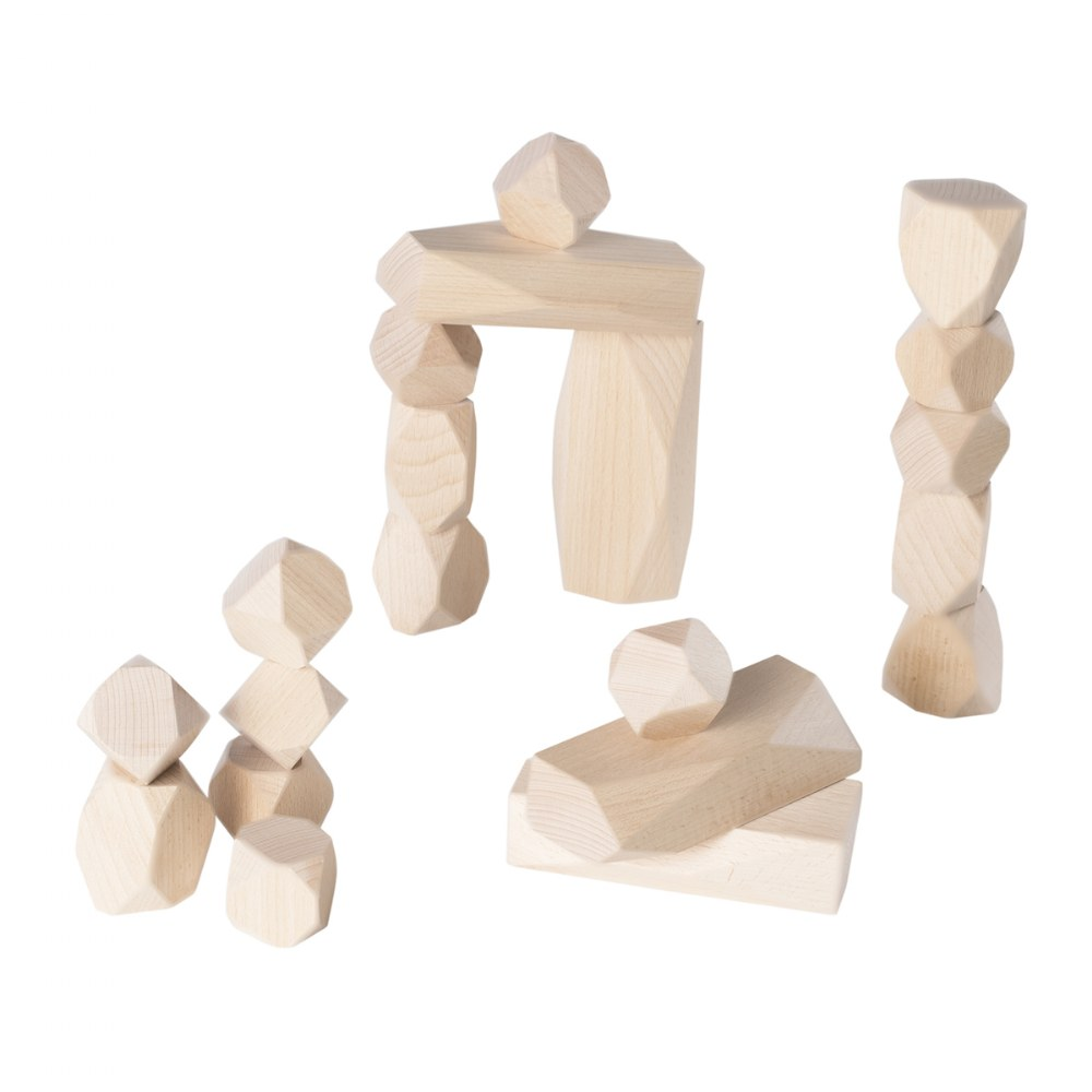Alternate Image #2 of Wood Stackers: Standing Stones - Set of 20