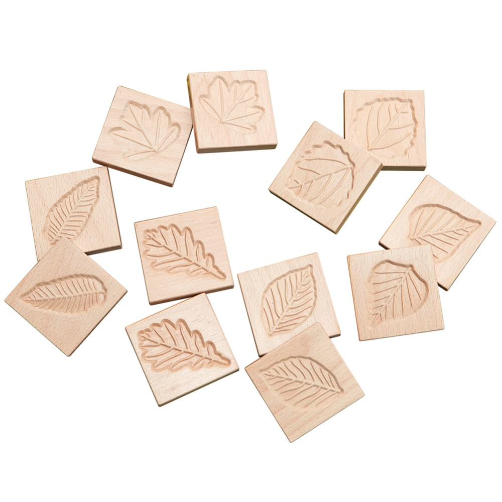 Sensory Leaf Tiles - Set of 12
