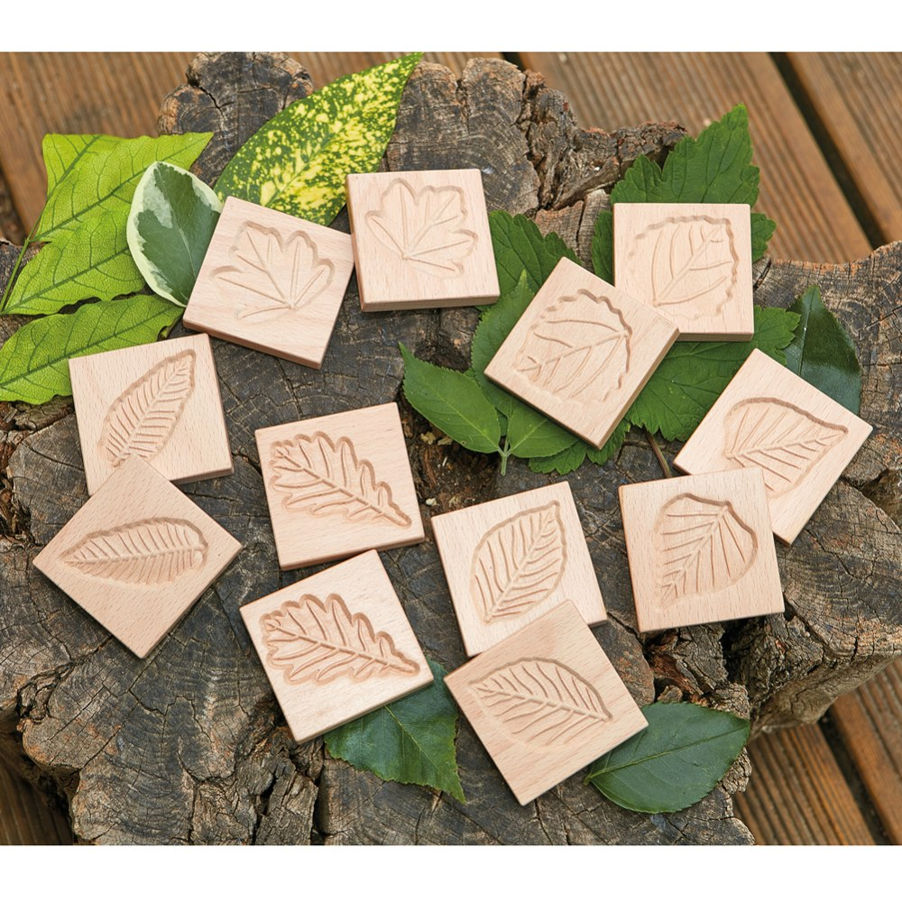 Alternate Image #1 of Sensory Leaf Tiles - Set of 12