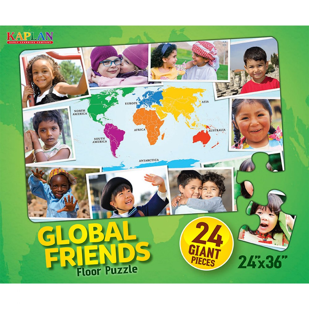 Alternate Image #2 of Global Friends Floor Puzzle - 24 Pieces