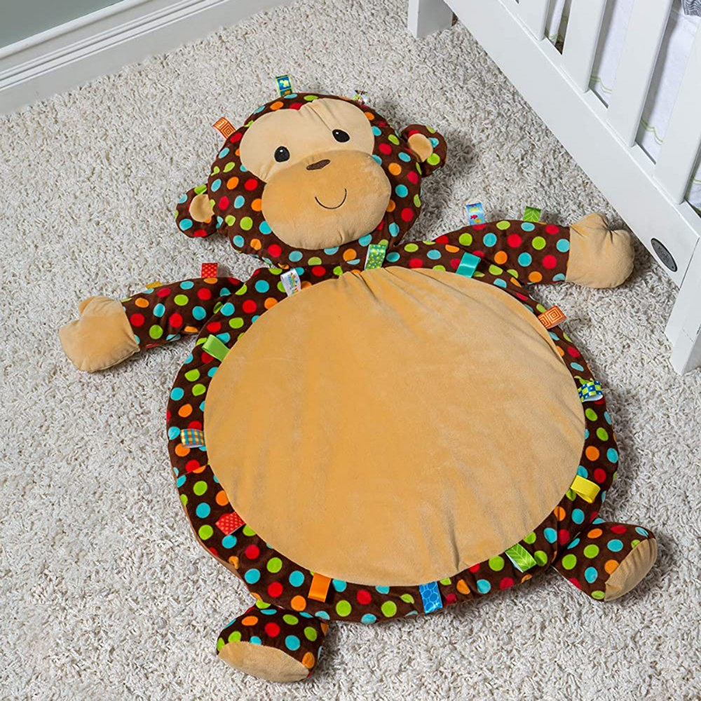 Alternate Image #1 of Taggies™ Dazzle Dots Monkey Baby Mat
