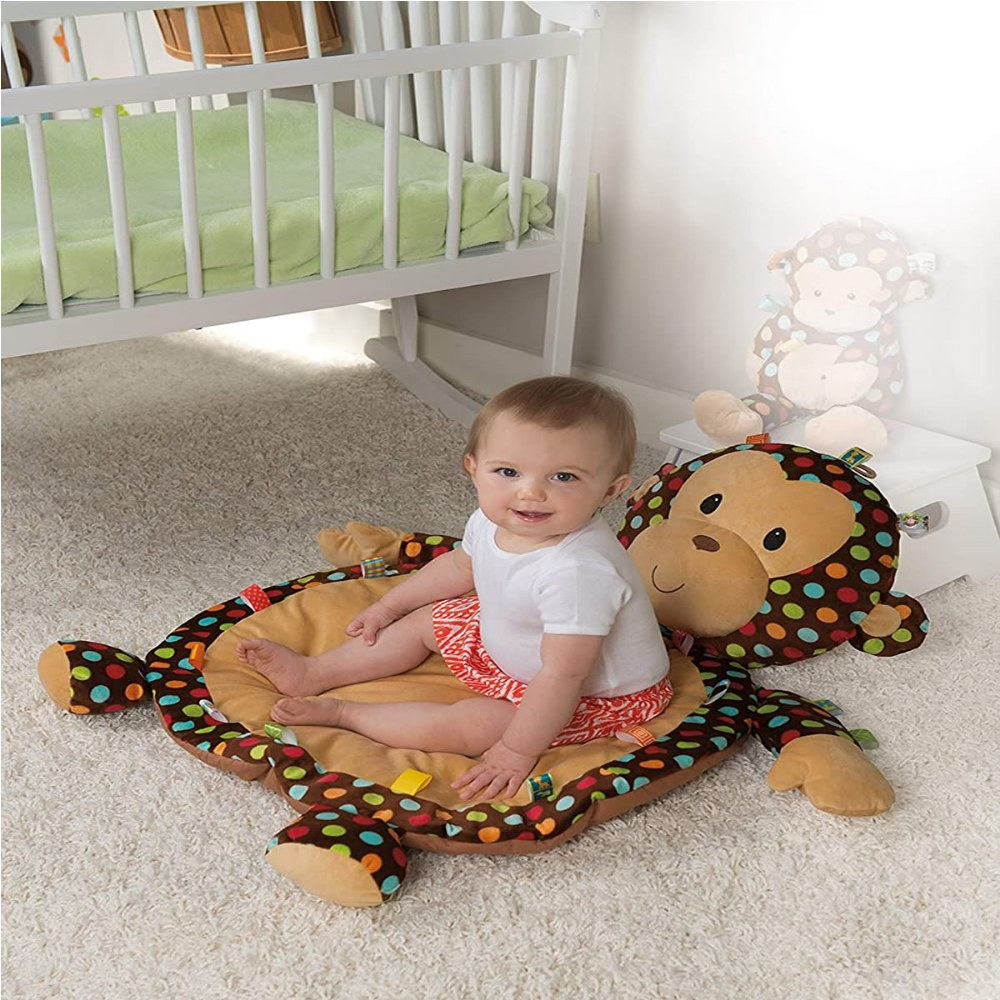 Alternate Image #2 of Taggies™ Dazzle Dots Monkey Baby Mat