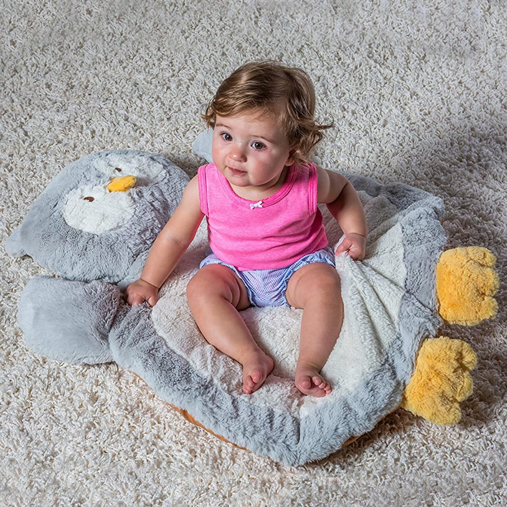 "Alternate Image #2 of Infant Plush and Soft 31"" Owl Shaped Baby Mat"