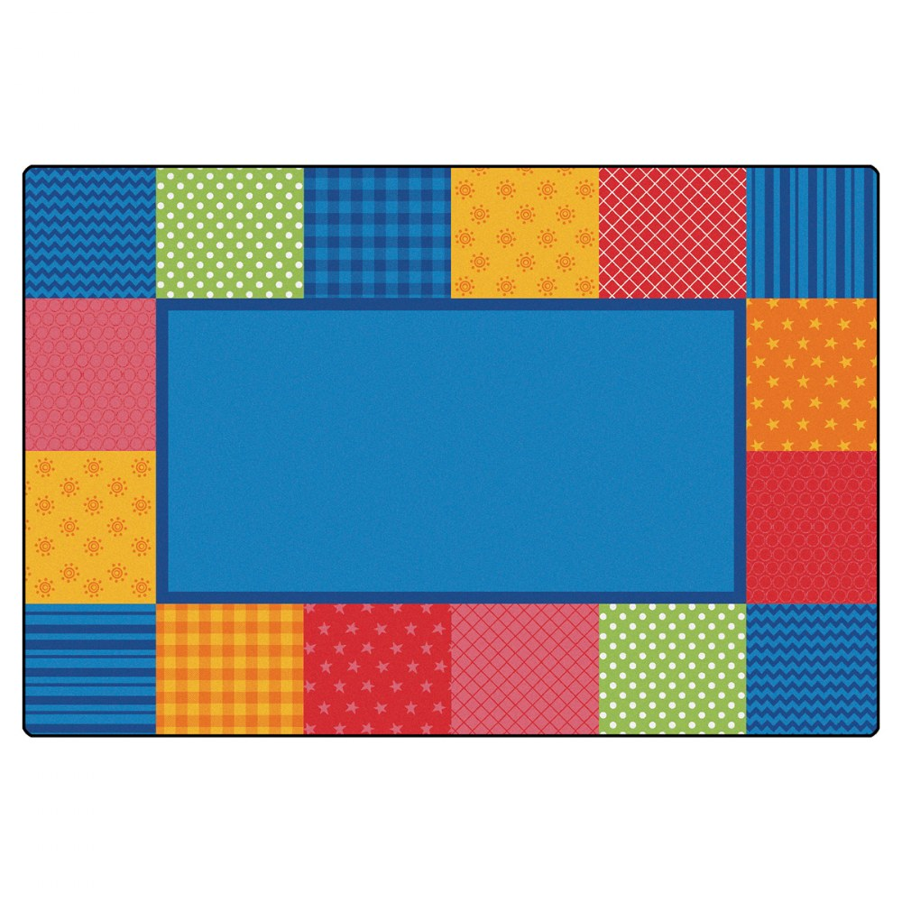 Pattern Blocks Primary Colors Rug - 6' x 9'
