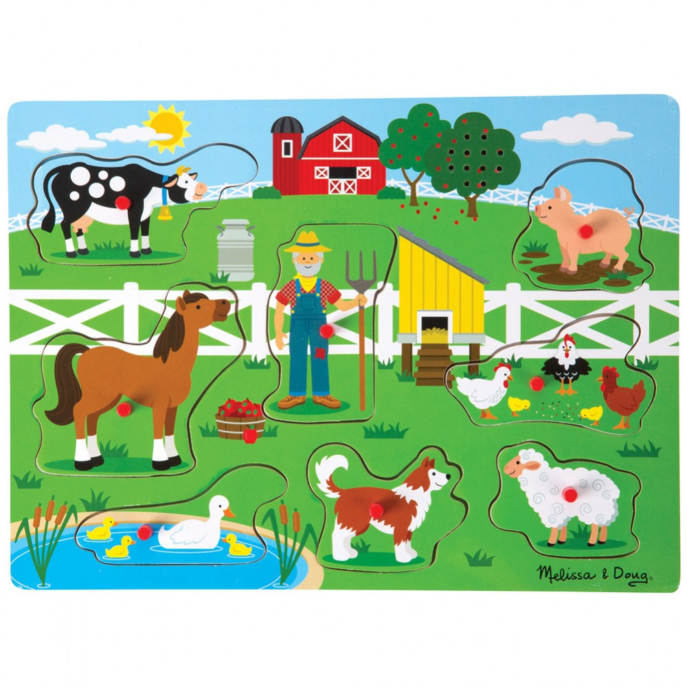 Old MacDonald's Farm Sound Knob Puzzle