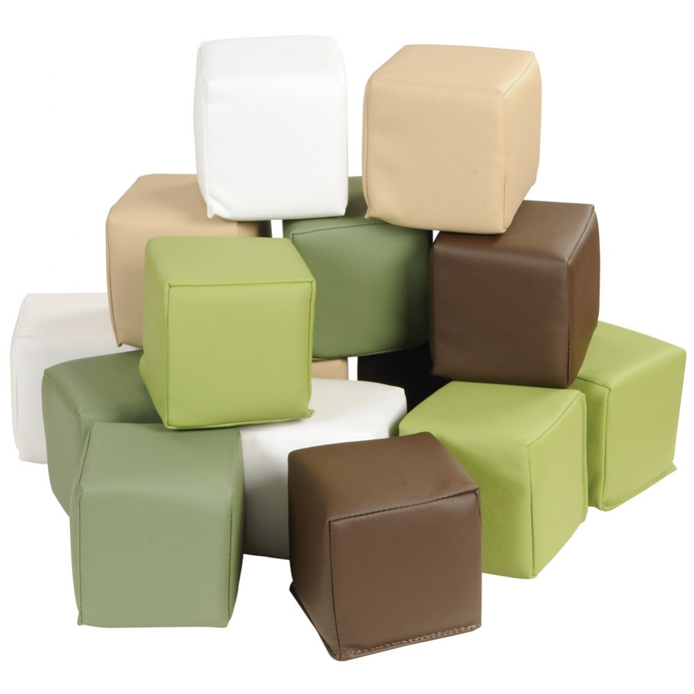 Nature-Toned Toddler Blocks - Set of 15