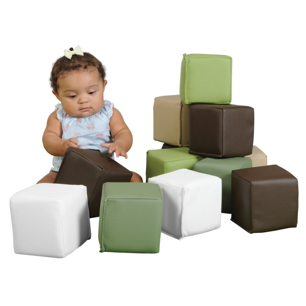 Alternate Image #1 of Nature-Toned Toddler Blocks - Set of 15