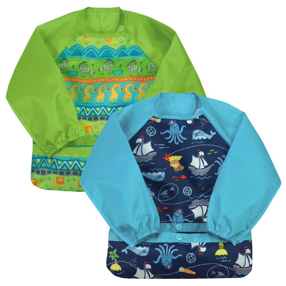 Two Pack Long-Sleeve Bibs (Set of 2)