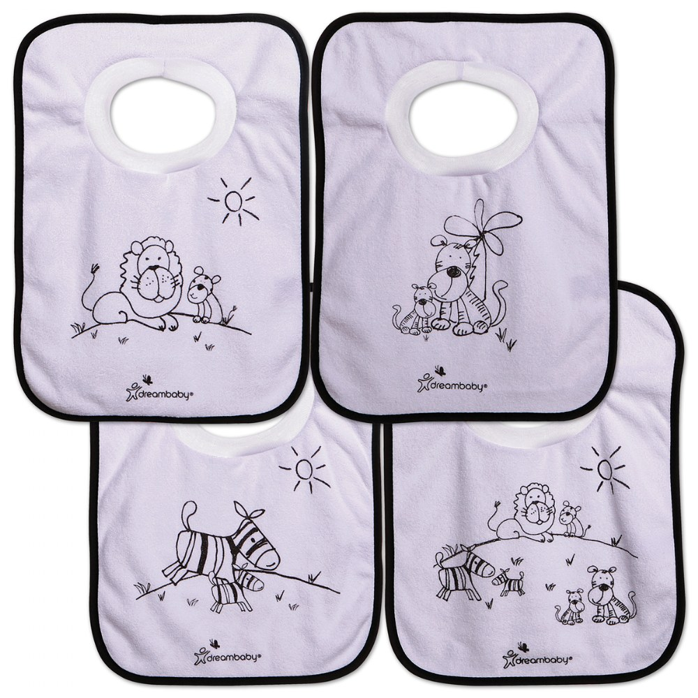 Jungle Pullover Bibs - Set of 4