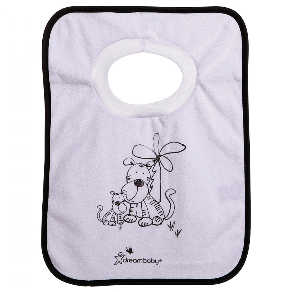 Alternate Image #2 of Jungle Pullover Bibs - Set of 4