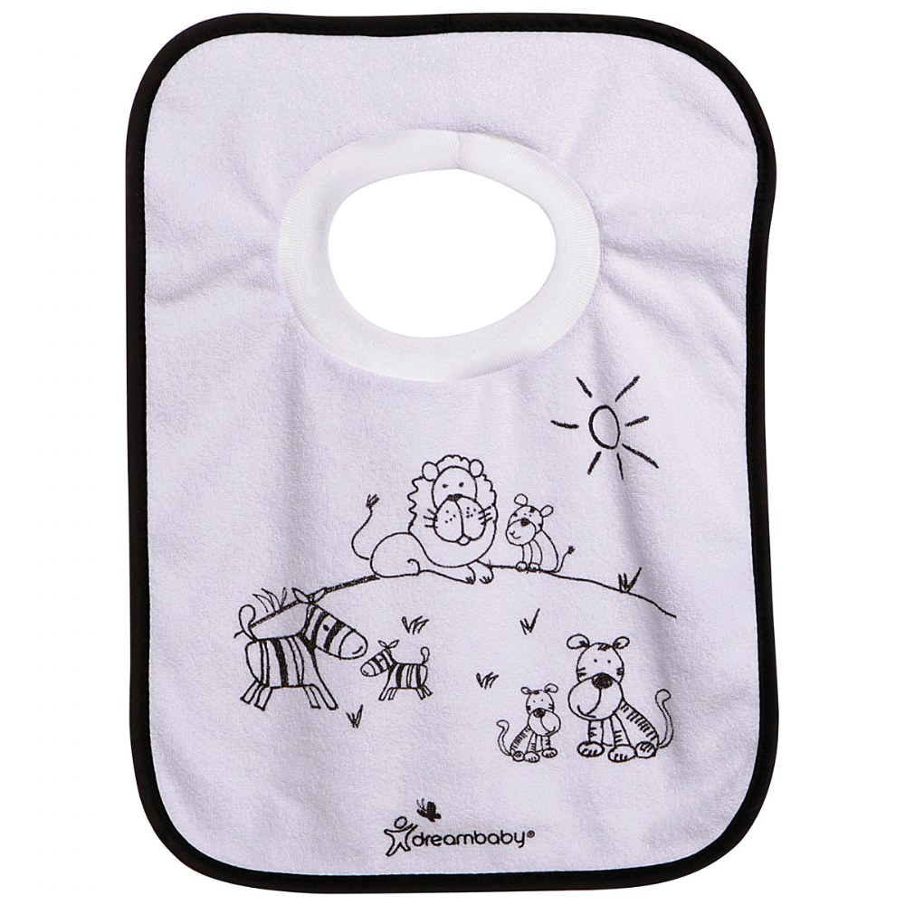 Alternate Image #4 of Jungle Pullover Bibs - Set of 4