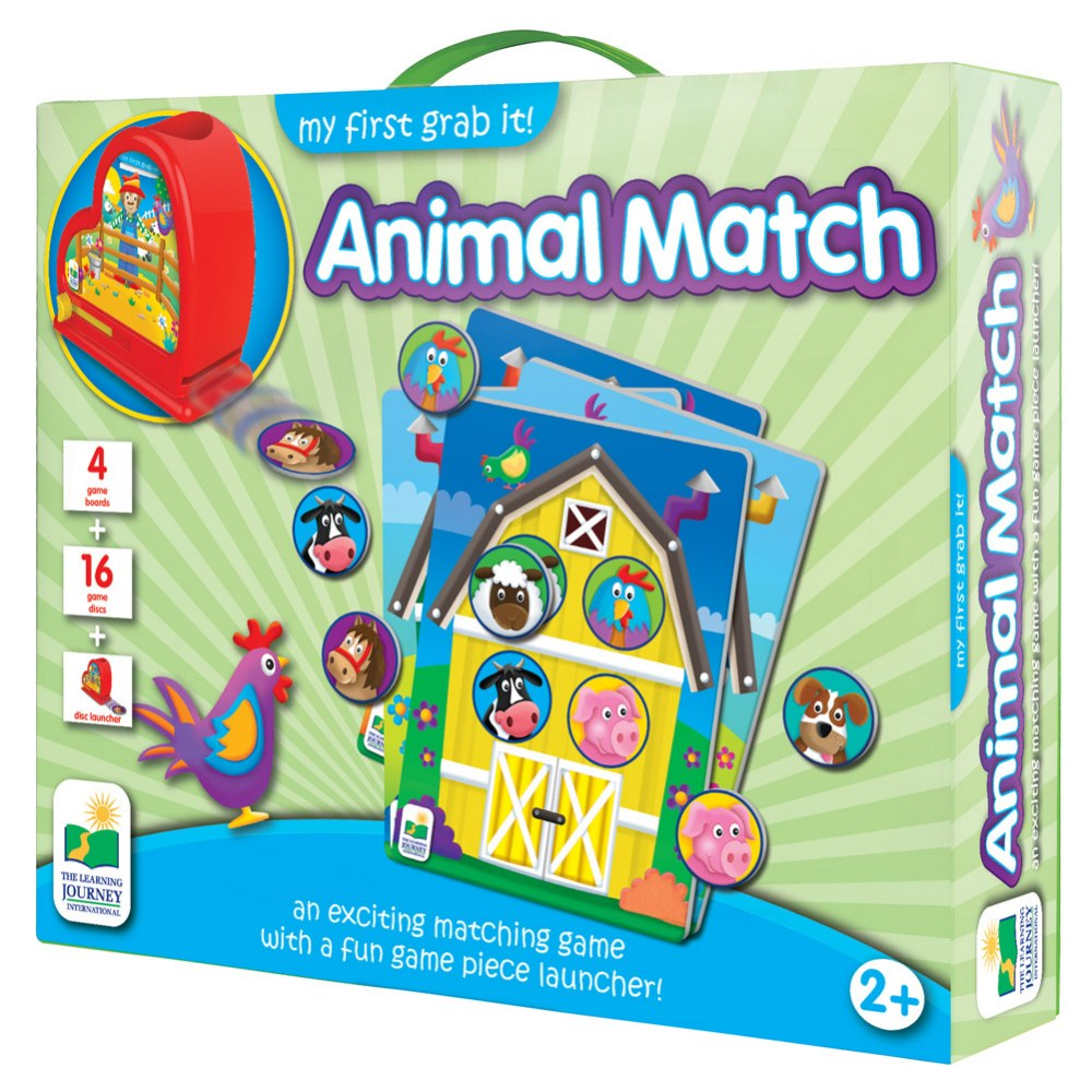 Alternate Image #1 of My First Grab it! Animal Match Game