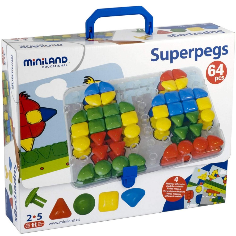 Alternate Image #2 of Super Pegs Set and Cards - 64 pieces