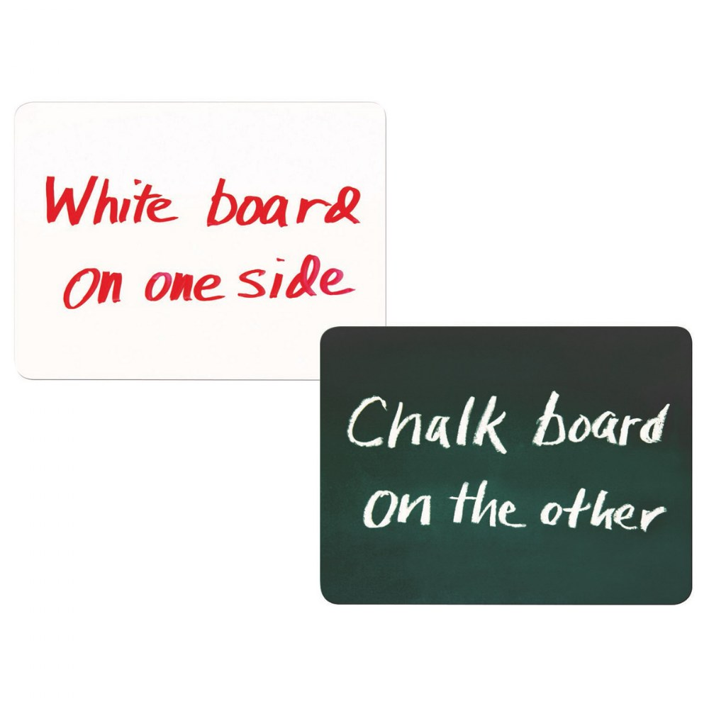 Double-Sided Chalkboard and Dry-Erase Board
