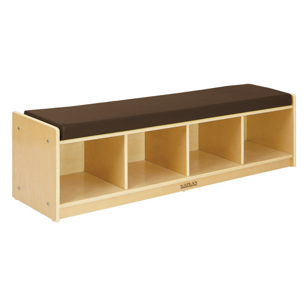 Premium Solid Maple 4-Section Bench Cubby