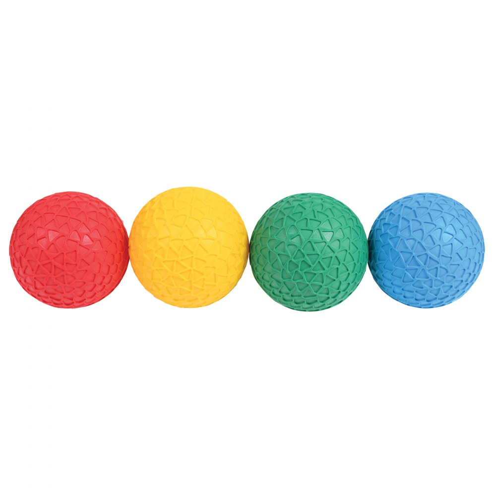 Alternate Image #1 of Easy Grip Honeycomb Surface Textured Balls - Set of 4