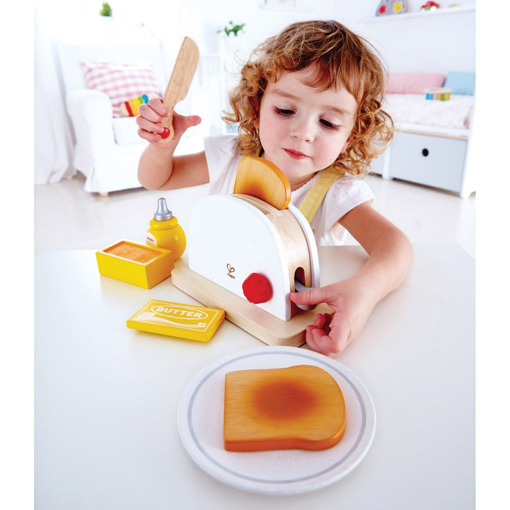Alternate Image #1 of Pop Up Toaster Wooden Dramatic Role Play and Pretend Play Set for Kids