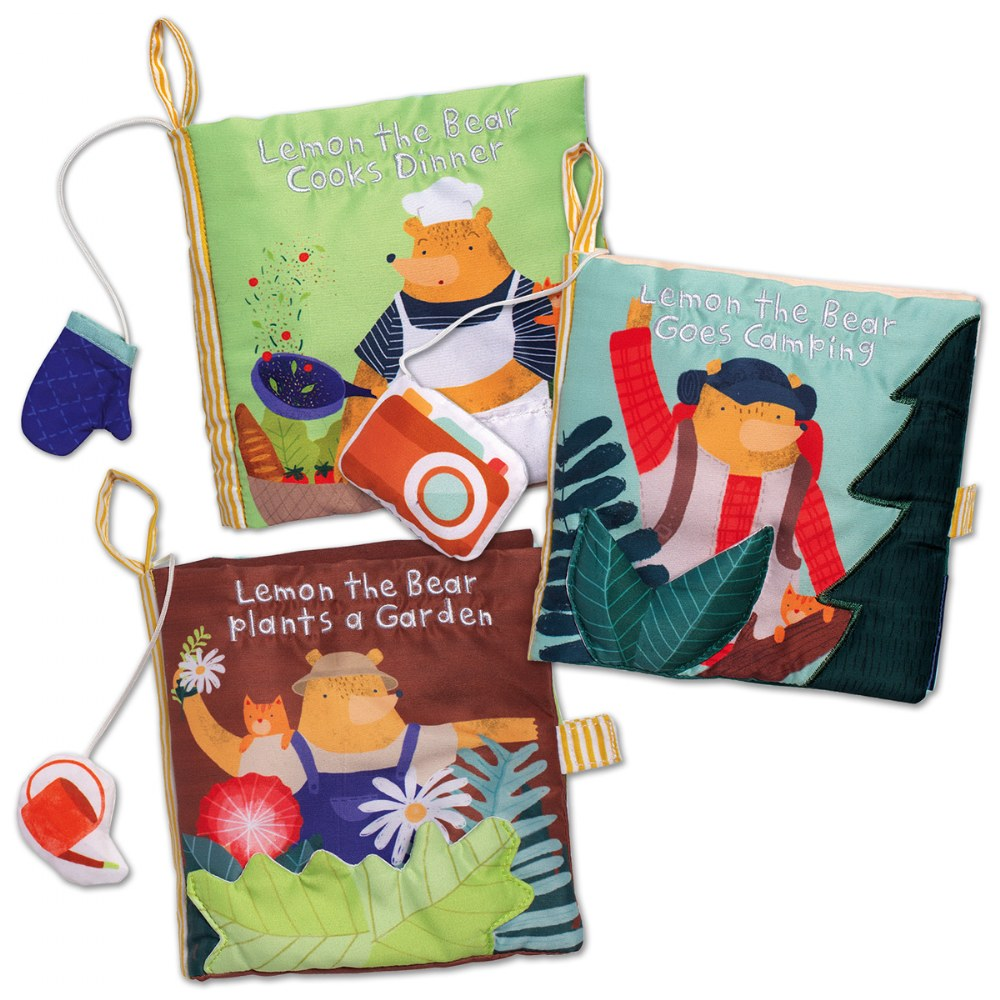 Lemon the Bear Cloth Books - Set of 3
