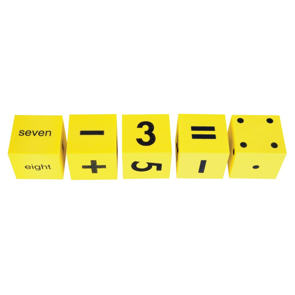 Alternate Image #1 of Math Foam Dice Assortment - 36 Pieces