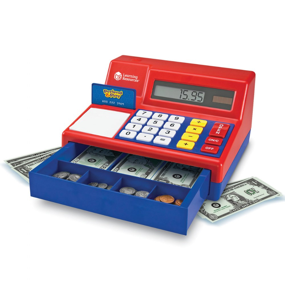 Alternate Image #1 of Large Calculator Pretend and Play Cash Register