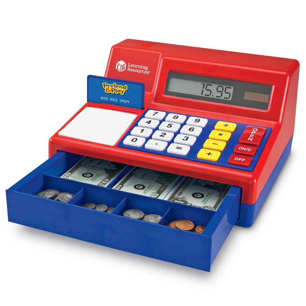 Alternate Image #2 of Large Calculator Pretend and Play Cash Register