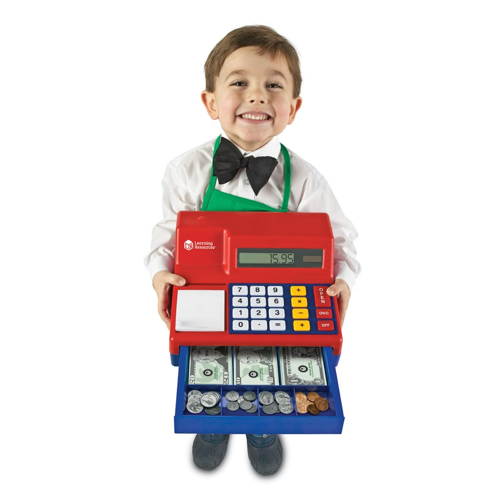 Alternate Image #3 of Large Calculator Pretend and Play Cash Register