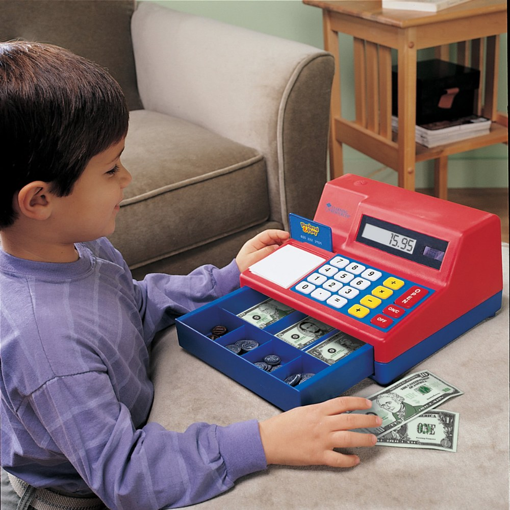 Alternate Image #4 of Large Calculator Pretend and Play Cash Register