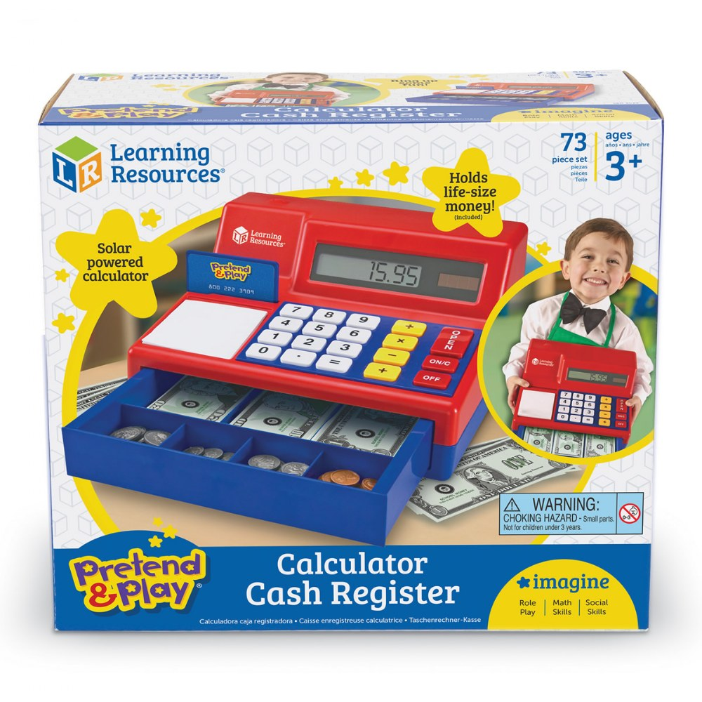 Alternate Image #5 of Large Calculator Pretend and Play Cash Register