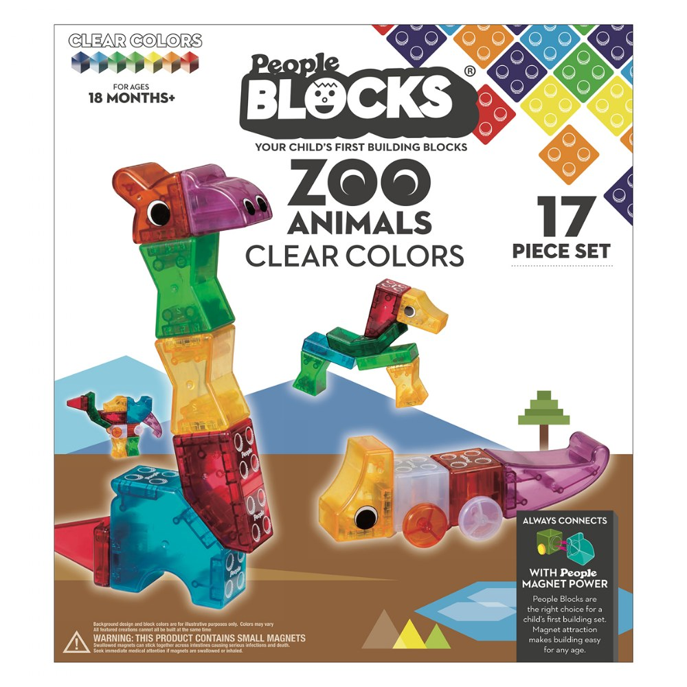 Alternate Image #5 of Zoo Animals Clear Colors - 17 Pieces