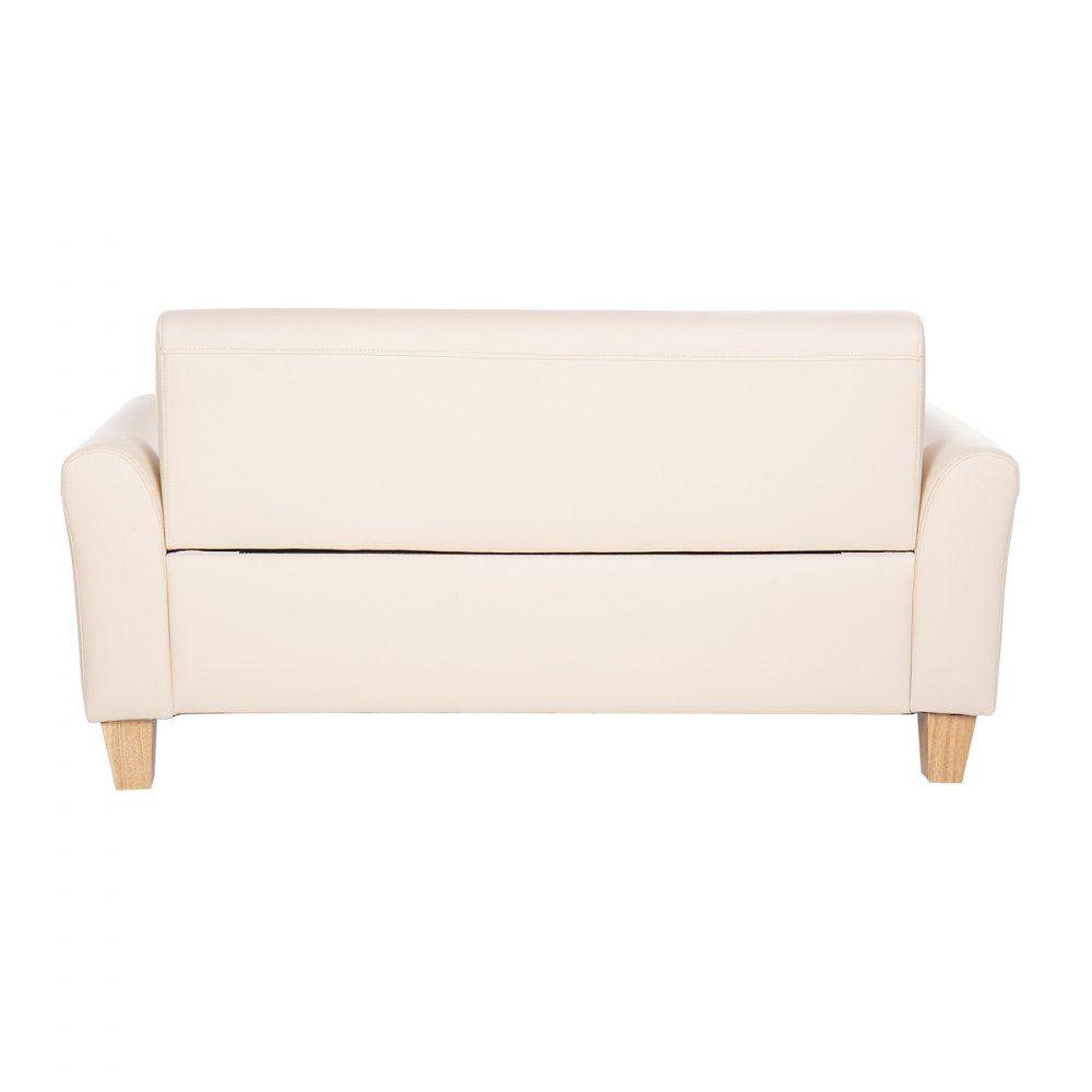 Alternate Image #3 of Sense of Place Tan Vinyl Couch and Chair