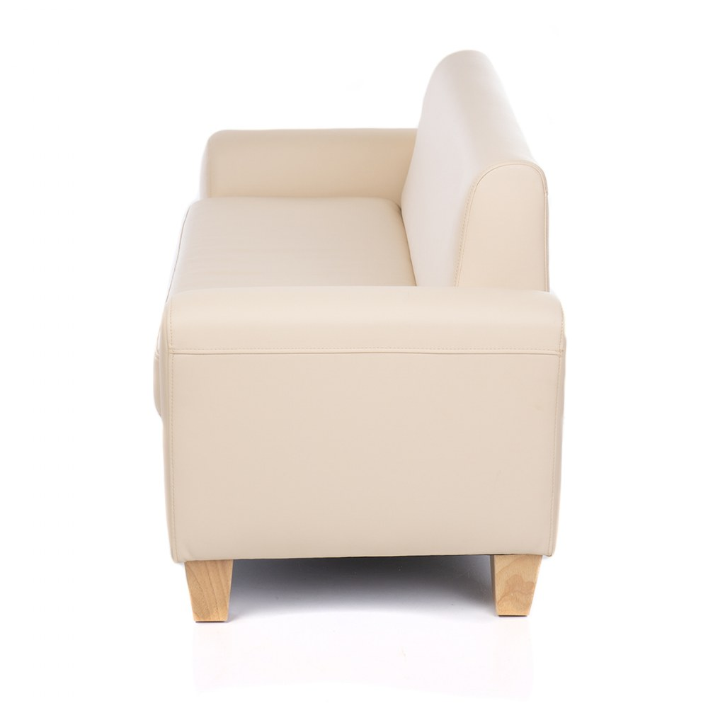 Alternate Image #4 of Sense of Place Tan Vinyl Couch and Chair
