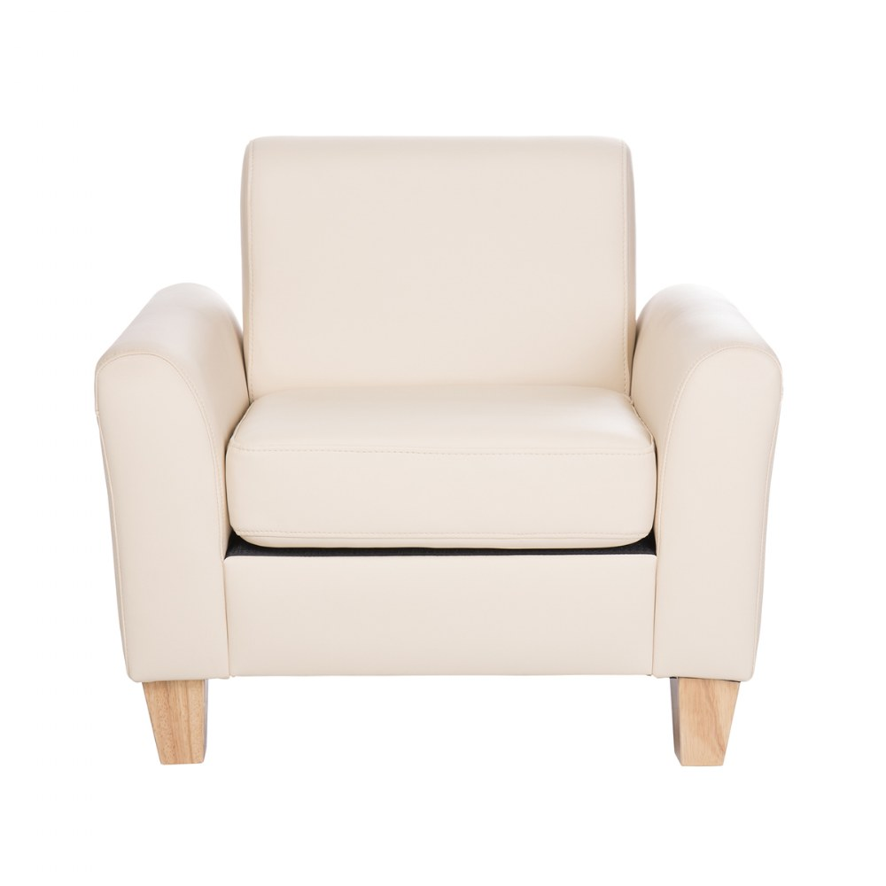 Alternate Image #5 of Sense of Place Tan Vinyl Couch and Chair
