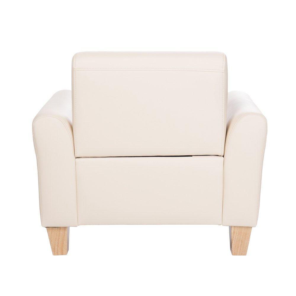 Alternate Image #6 of Sense of Place Tan Vinyl Couch and Chair