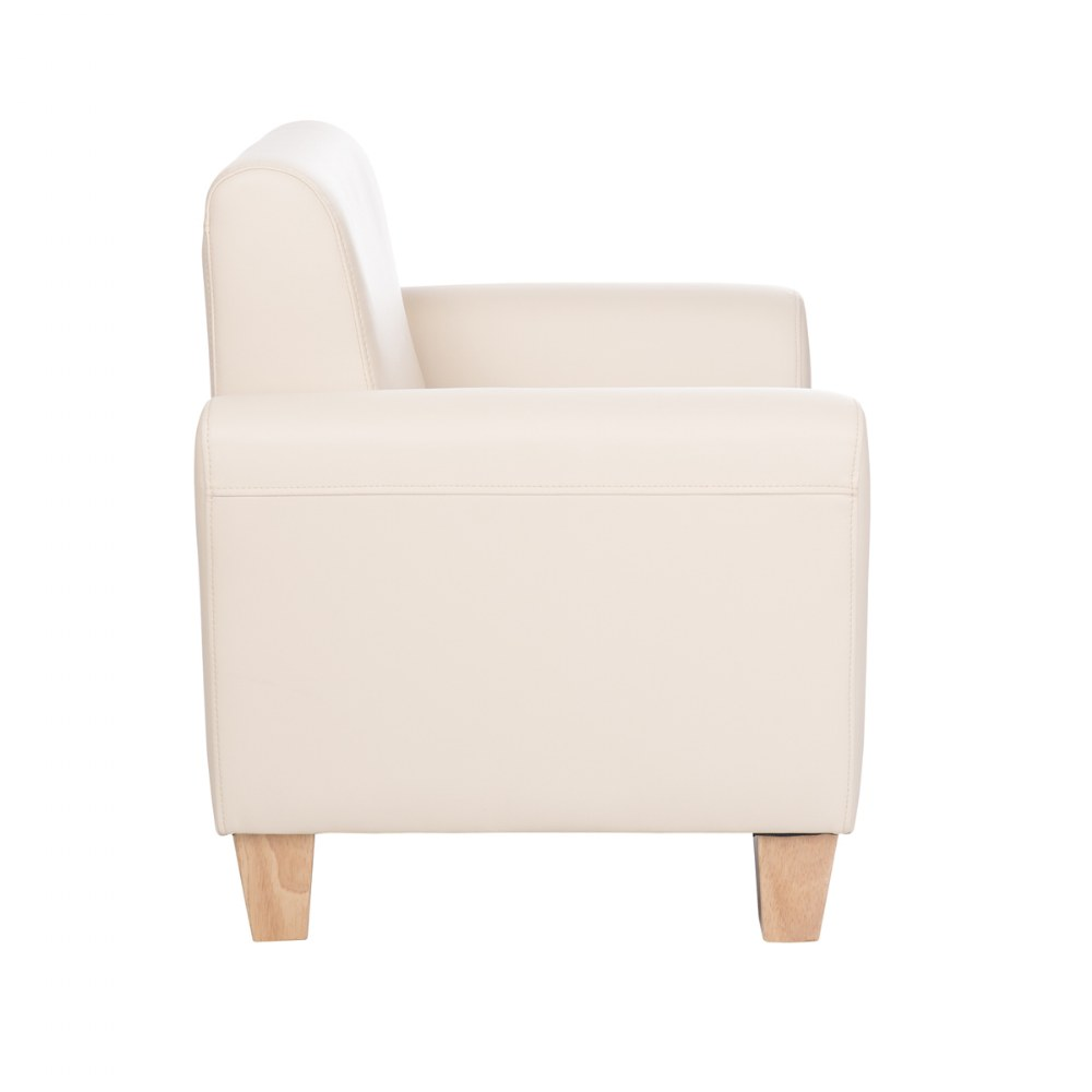 Alternate Image #7 of Sense of Place Tan Vinyl Couch and Chair