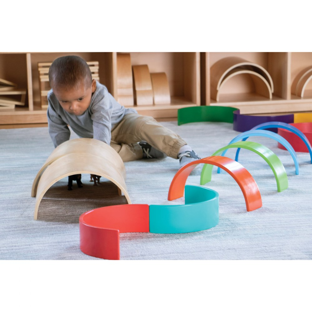Alternate Image #7 of Colorful Wooden Rainbow Arches and Tunnels - Set of 12