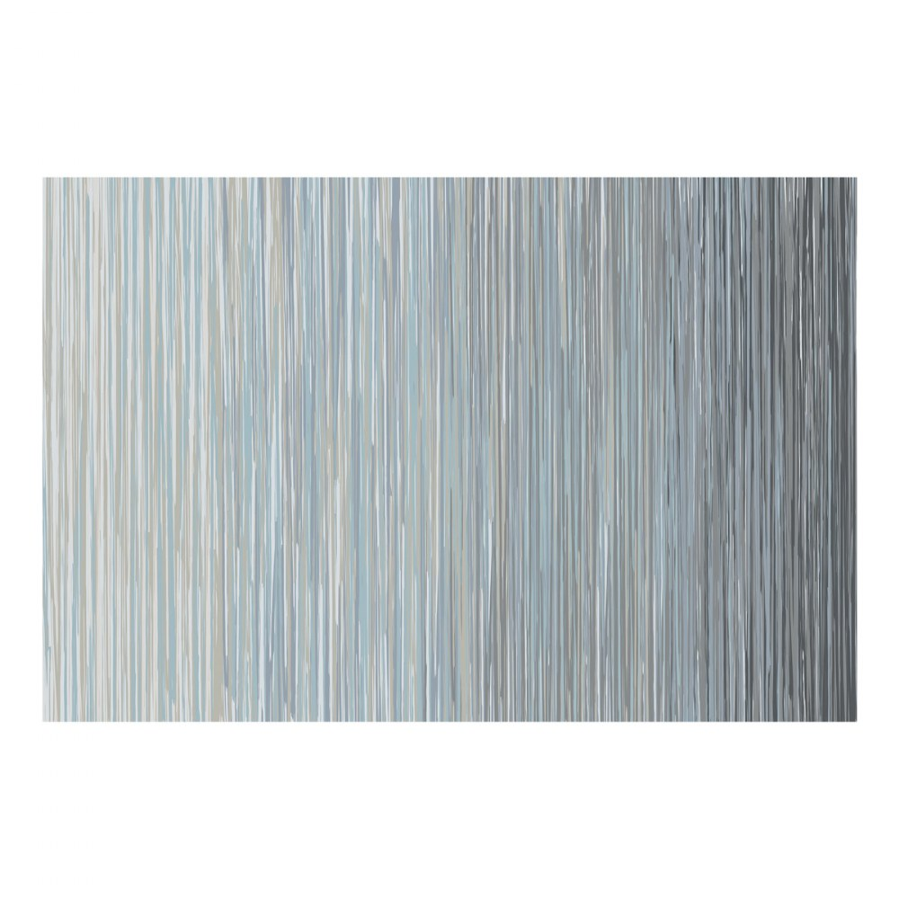 Sense of Place Nature's Stripes Blue Carpet - 6' X 9'