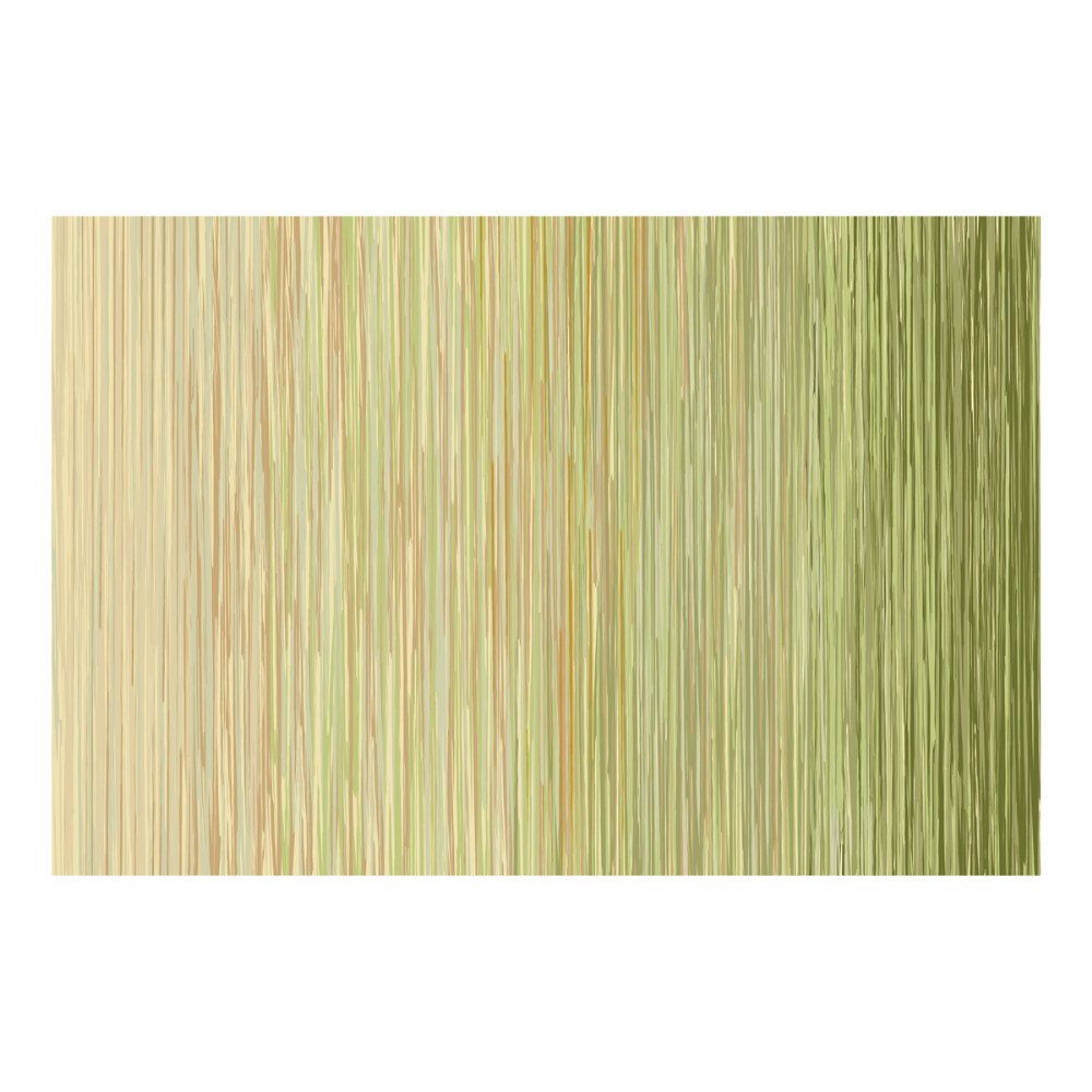 Sense of Place Nature's Stripes Green Carpet - 6' X 9