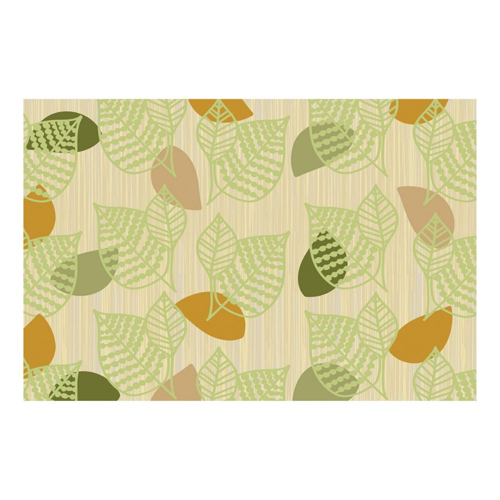 Sense of Place Green Leaf Carpet - 6' X 9'