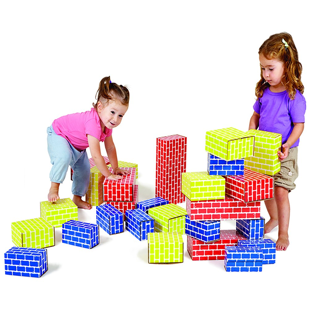 Alternate Image #2 of Brick Block Large Building Set - 44 Pieces