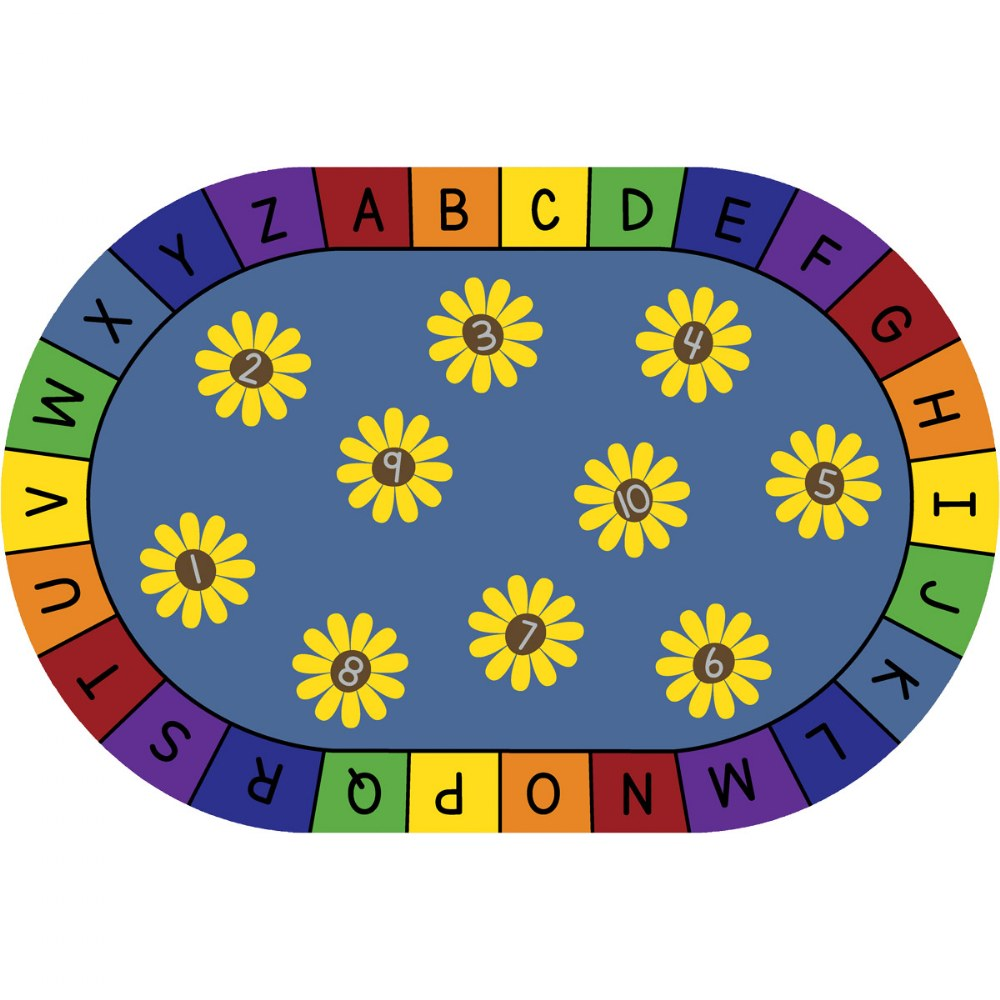 Daisy Alphabet and Numbers Carpets