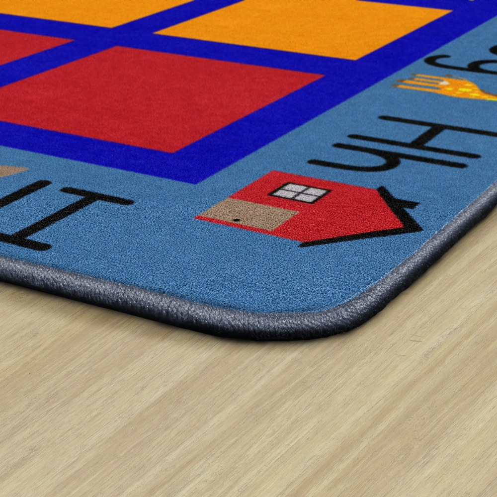 "Alternate Image #2 of ABC Primary Phonics Seating Carpet - 8'4"" x 12' Rectangle - Seats 35"