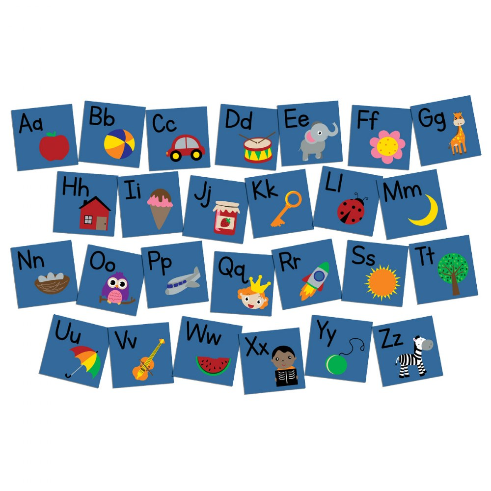 "Primary Phonics Seating Squares - 12"" x 12"" - Set of 26"