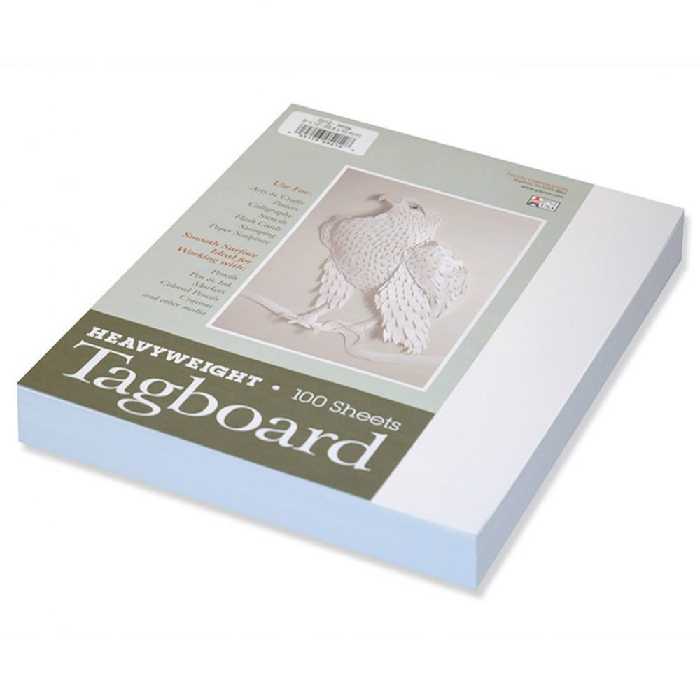 White Tagboard Packs - 100 Sheets Each