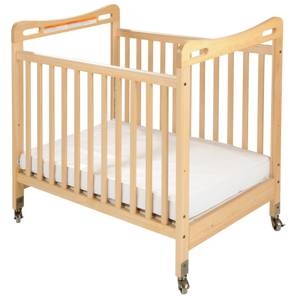 Safe & Sound™ Fixed Side Clearview Compact Crib