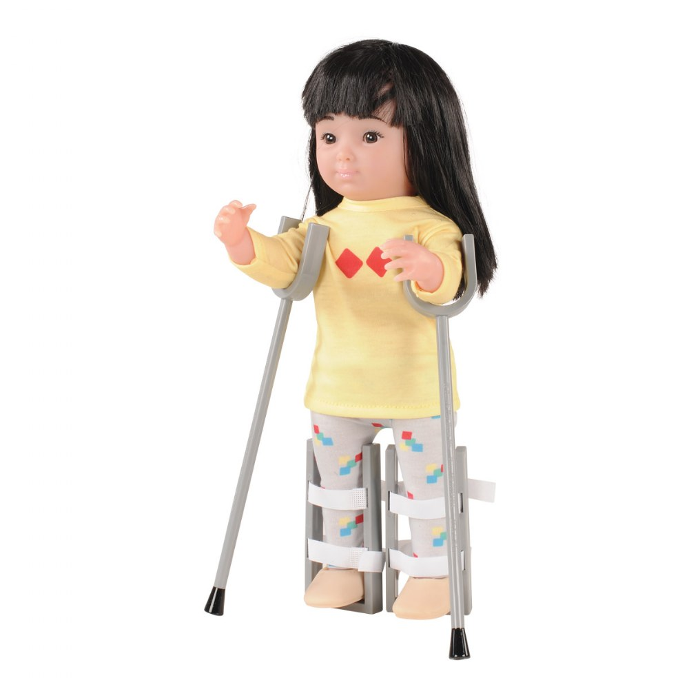 Alternate Image #1 of Inclusion Doll Equipment - Leg Braces & Crutches
