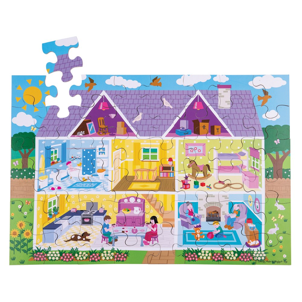 Alternate Image #2 of Wooden Floor Puzzles - Ocean, Dollhouse, Farm and Construction