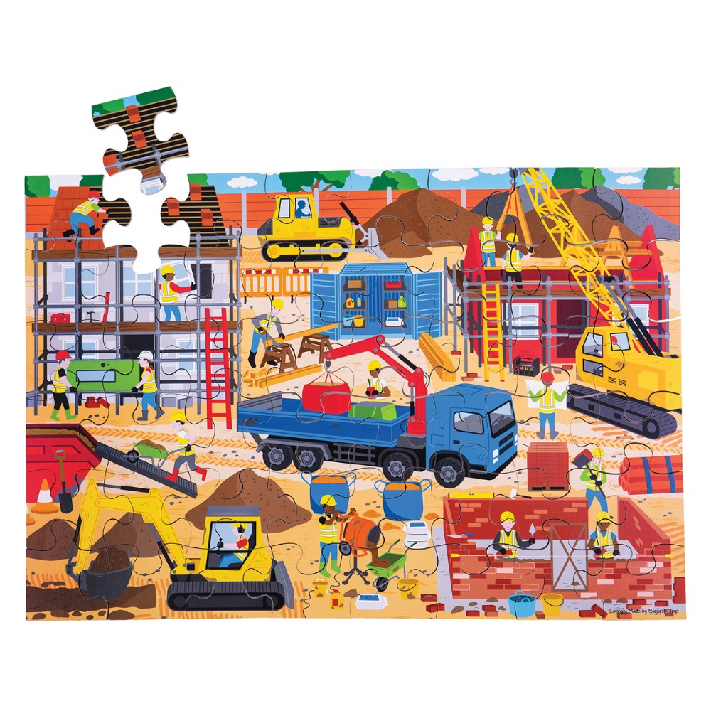 Alternate Image #4 of Wooden Floor Puzzles - Ocean, Dollhouse, Farm and Construction